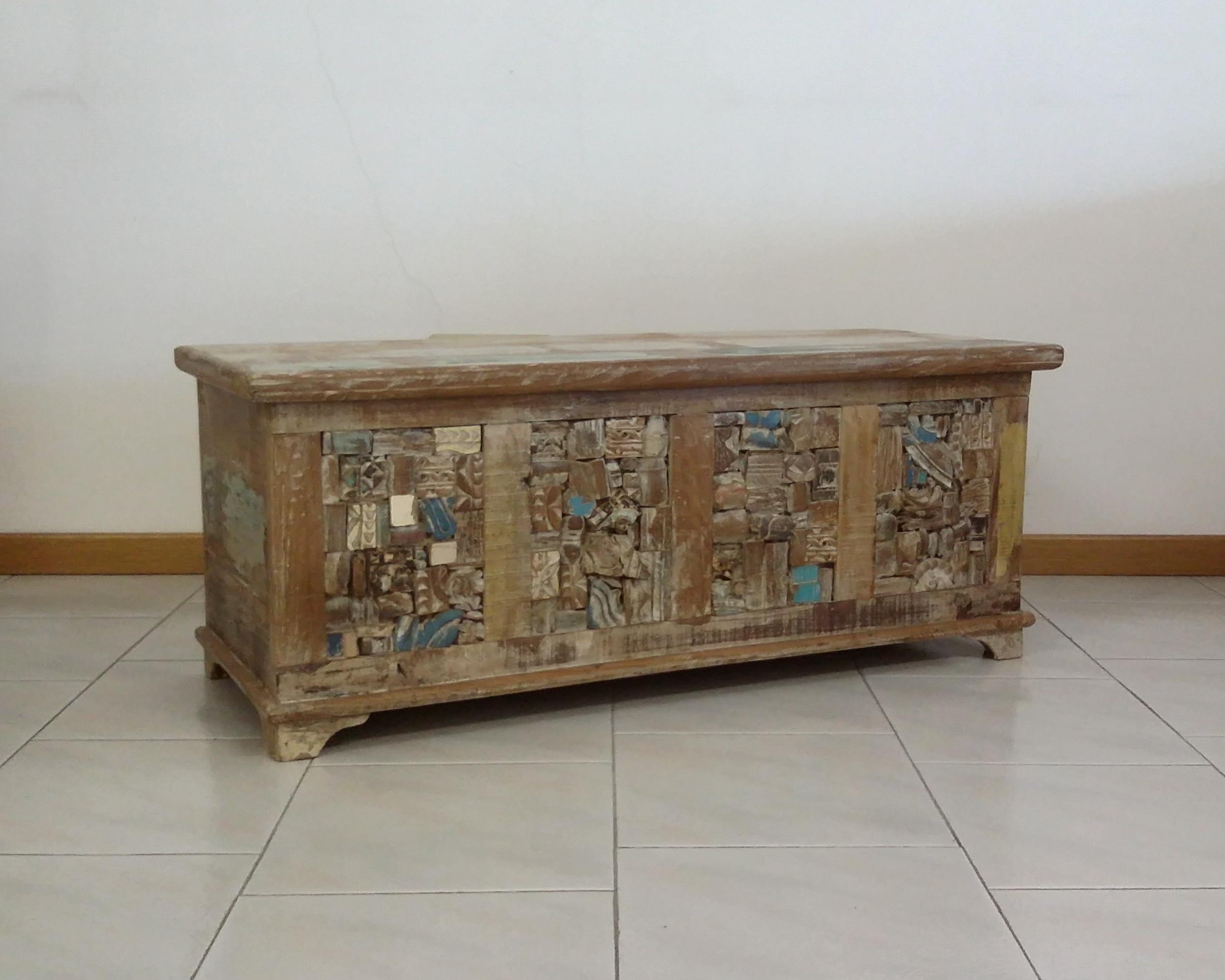Divani Esterno Legno : Cassapanca legno riciclato casa del bambù