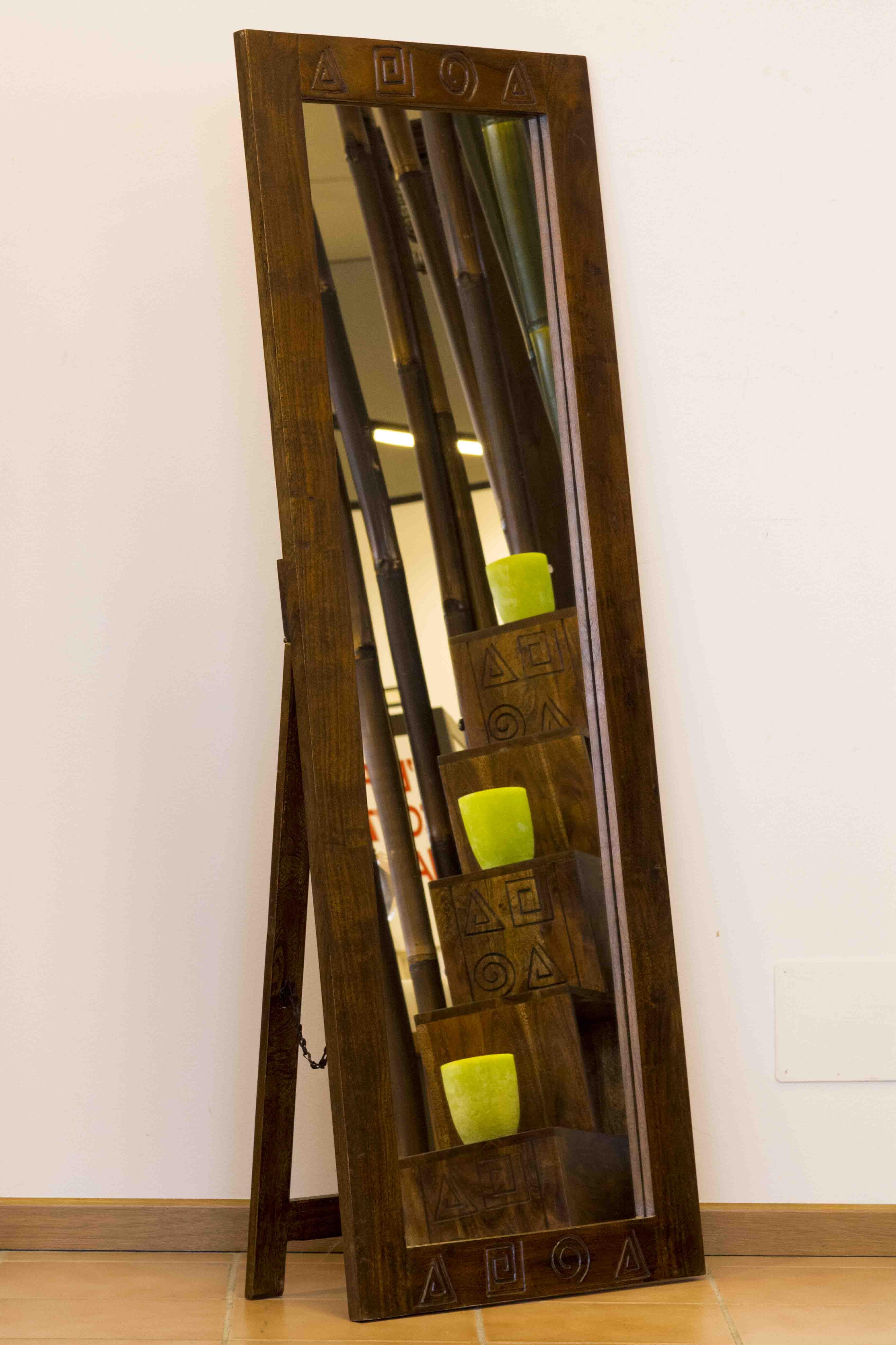 Specchio africa piantana casa del bamb - Specchio con piedistallo ...