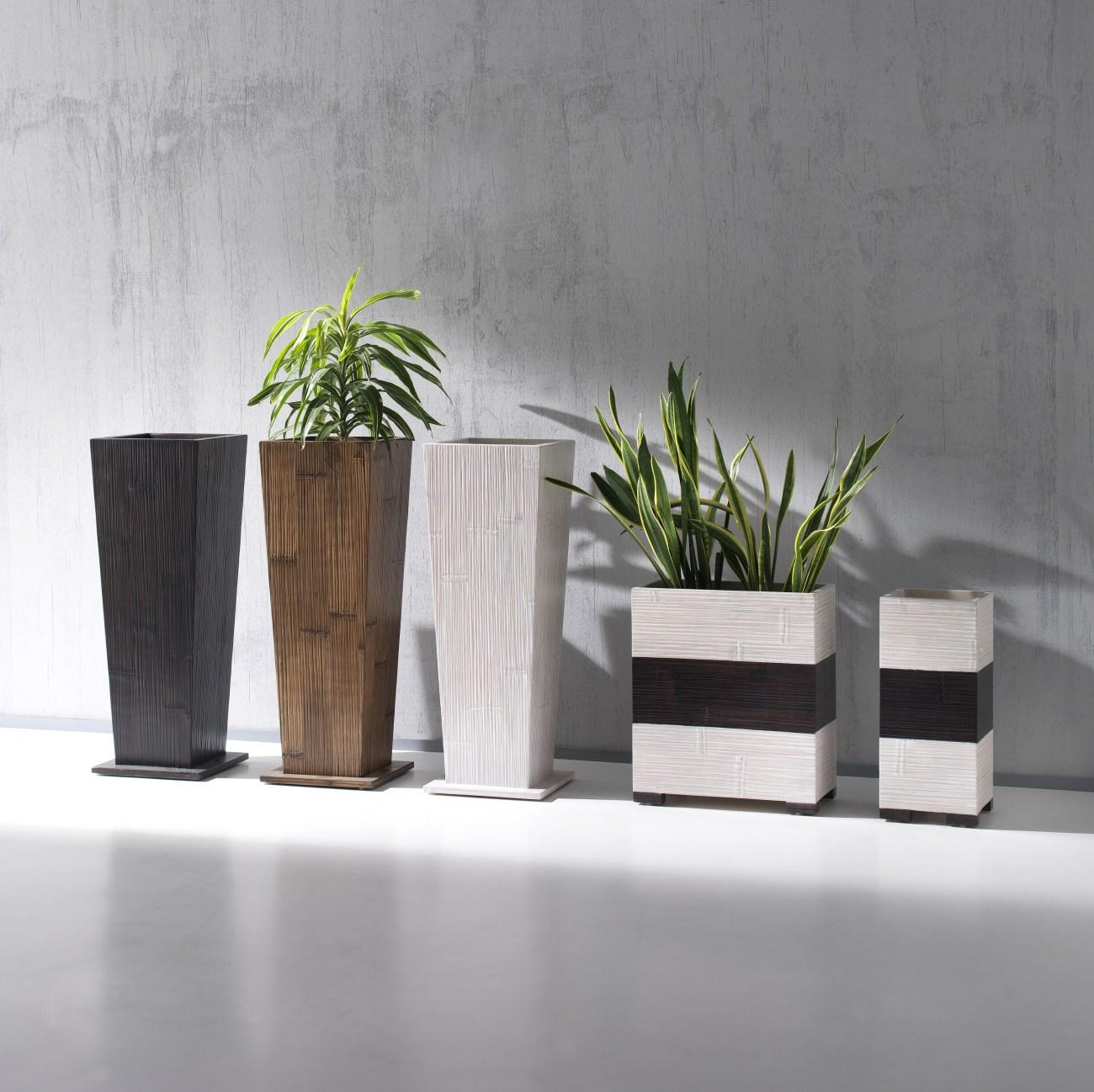 Porta vaso essential casa del bamb for Vaso da interno moderno