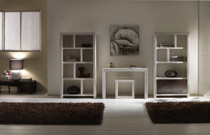 Libreria essential casa del bamb - Mobili divisori per ingresso ...