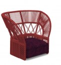 Cliff Dèco - LOUNGE ARMCHAIR BACKREST ROPE Rosso Talenti.jpg